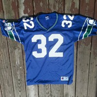 Vintage 90s Ricky Watters Seattle Seahawks Champion Jersey NFL from Deadstock Dynasty