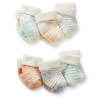6-Pack Terry Baby Booties