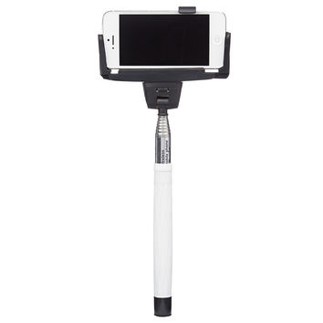 Foldable Monopod Selfie Stick Extendable White