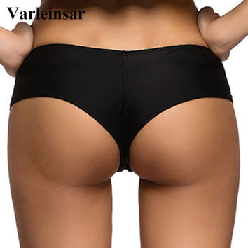 2017 swimming briefs V shape sexy swimwear women brazilian bikini bottom scrunch butt thong tanga panties underwear beach V130