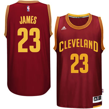 Youth Cleveland Cavaliers LeBron James adidas Garnet Replica Road Jersey