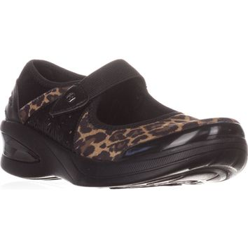 Bzees Freefall Mary Jane Flats, Brown Leopard, 7.5 US / 37.5 EU