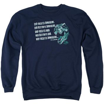 Jurassic Park - God Creates Dinosaurs Adult Crewneck Sweatshirt Officially Licensed Apparel