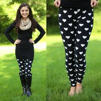 My Achy Breaky Heart Patterned Leggings
