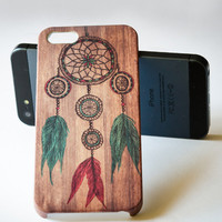iPhone 5 case - Dream Catcher on Wood iPhone 4s case , iphone 4 case , Wood Case , Hard Plastic Case , iPhone cover