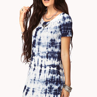 Drop Waist Tie-Dye Dress