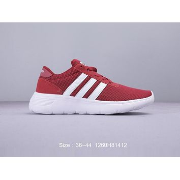 Adidas Neo Lite Racer Fashion Women Men Casual Sport Running Shoes Sneakers Red