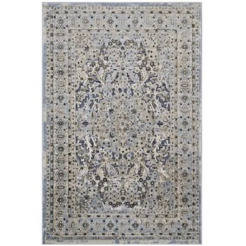 Elqenna Ornate Vintage Floral Turkish 5x8 Area Rug