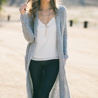 Blake Grey Oversized Knit Cardigan