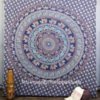 Tapestry Wall Hanging, Hippie Tapestries, Indian Wall Hanging, Bohemian Ethnic Tapestry, Mandala Tapestries, Boho Tapestry, Dorm Bed Spread