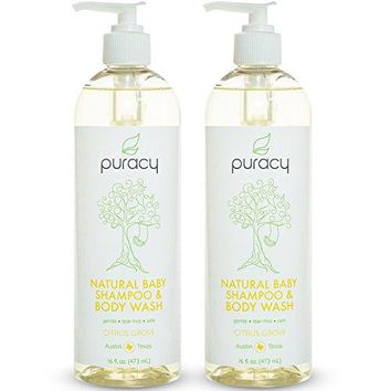 Natural Baby Shampoo & Body Wash, Tear-Free, Sulfate-Free, Developed by Doctors, 16 Ounce Pump Bottle, (Pack of 2)