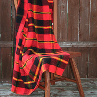 Lumber, Jack! - Vintage Camping Blanket, Bonfire and Throw Blanket  - Red, Yellow, and Black Plaid Pattern - Rustic Camping, Cabin Decor