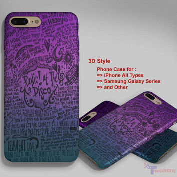 Audrey Hepburn quotes & panic at the disco lyric - Personalized iPhone 7 Case, iPhone 6/6S Plus, 5 5S SE, 7S Plus, Samsung Galaxy S5 S6 S7 S8 Case, and Other