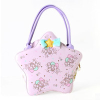 Japanese harajuku cute bowknot stars bag