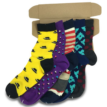 5 Pairs Men's Power Socks - EDM