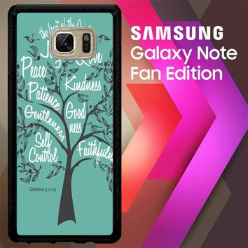 7 Fruits Of Spirits V0686 Samsung Galaxy Note FE Fan Edition Case
