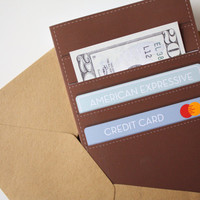 Fathers Day card Wallet card Custom Funny Card Birthday Card Dad - A Father carries pictures where his money used to be.