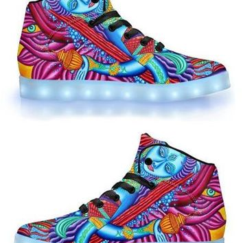 Lakshmi by Alex Aliume - APP Controlled High Top LED Shoes