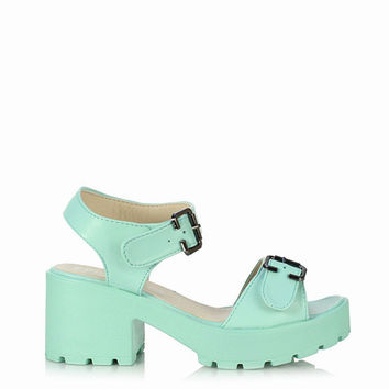 Melrose Mint Sandals - STONE FOX