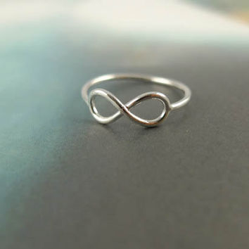 infinity ring in silver