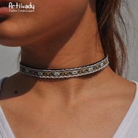 The Oily Essentials Jewelry Handmade Boho Necklace Choker