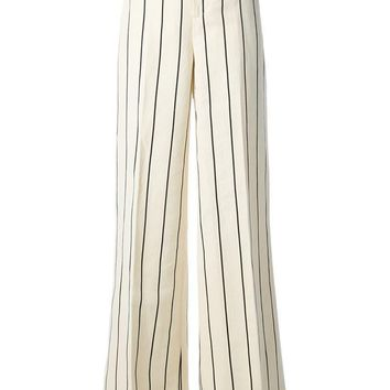 Ralph Lauren Blue striped wide leg trousers