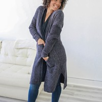 Cuddle Me Cardigan - Charcoal