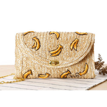 Embroidery Fruits Beach Bags [6580705927]