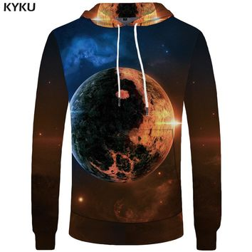 KYKU Galaxy Hoodie Men Earth Yin Yang Sweatshirt Gossip Space 3d Printed Hoodies Casual Hip Hop Mens Clothing Streetwear Top New