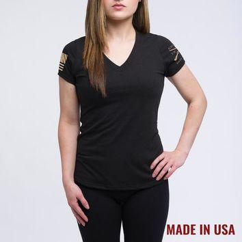 Ladies Black Yoga Shirt