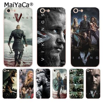 MaiYaCa Ragnar Lothbrok Vikings transparent soft tpu Phone Ultrathin Case for iPhone 8 7 6 6S Plus X 5 5S SE 5C 4s case Cover