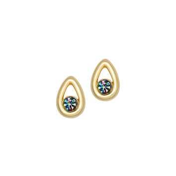 Iris Gold Drop Earrings