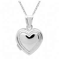 Sienna's Heart Shape Sterling Silver Memories Locket Necklace