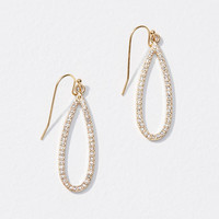 Pave Teardrop Earrings | LOFT