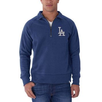 PEAPGQ9 Los Angeles Dodgers - Cross Check 1/4 Zip Pullover Sweater