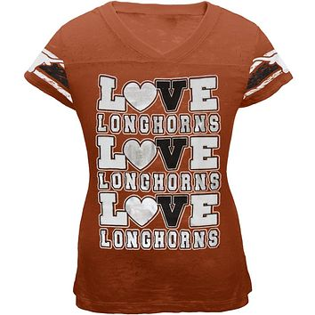 Texas Longhorns - Foil Love Girls Juvy Burnout T-Shirt