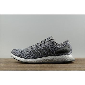 Adidas Pureboost Unisex S80703 Silver Casual Running Shoe