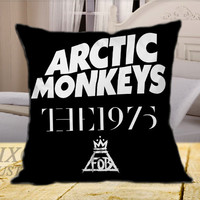Arctic Monkeys the 1975 The Fall Out Boy  on Square Pillow Cover