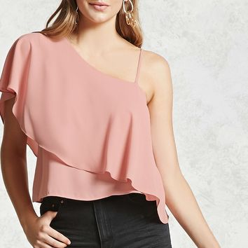 Flounce One-Shoulder Top
