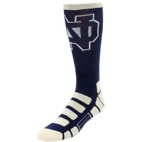 NOTRE DAME FIGHTING IRISH PATCHES QUARTER LENGTH SOCKS SIZE MEDIUM FOR BARE FEET