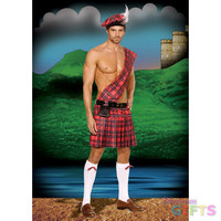 Men's Costume: Sexy Hot Scottie-Plus 1X-2X