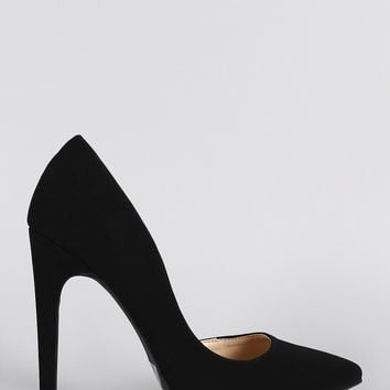 Wild Diva Lounge Pointy Toe Dorsay Pump
