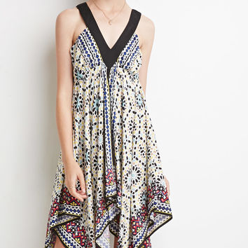 Abstract Scarf Print Dress