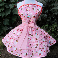 cherries and cupcakes apron