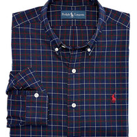 Polo Ralph Lauren Classic-Fit Plaid Brushed Oxford Shirt