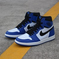 "Air Jordan 1 ""Game Royal"" 555088 403  Basketball Sneaker"