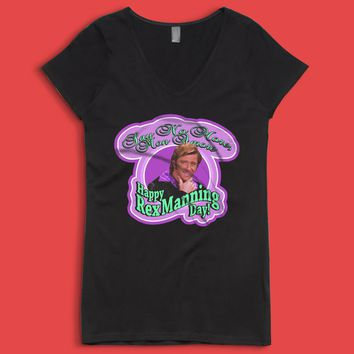 Empire Records Happy Rex Manning Day Women'S V Neck