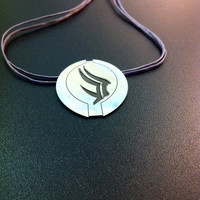 Sterling silver mass effect pendant-  Paragon silver pendant- geeky jewelry- statement jewelry- gamers gifts