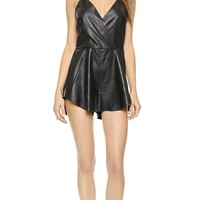 Bec & Bridge Vagabond Leather Romper