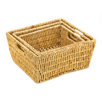 Set Of 3 Nesting Corn Husk Baskets